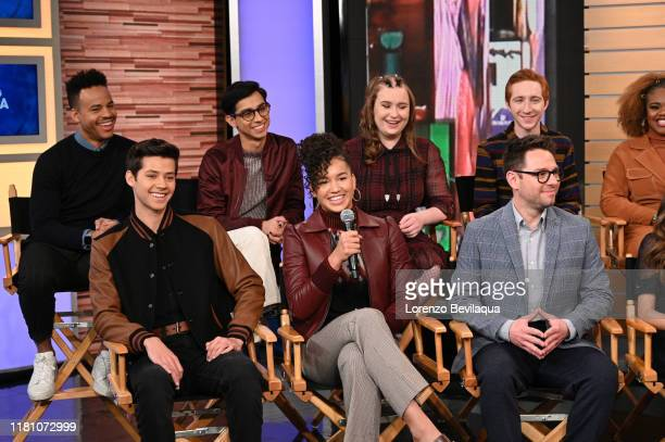 AMERICA Today Saturday November 8 the stars of the upcoming Disney series High School Musical The Musical The Series Joshua Bassett Olivia Rodrigo...