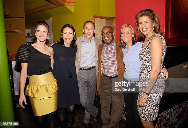 NBC 'Today Show' anchors Natalie Morales Ann Curry Matt Lauer Al Roker Meredith Vieira and Hoda Kotb attend Al Roker's 'The Morning Show Murders'...