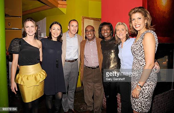 NBC 'Today Show' anchors Natalie Morales Ann Curry Matt Lauer Al Roker wife Deborah Roberts NBC anchors Meredith Vieira and Hoda Kotb attend Al...