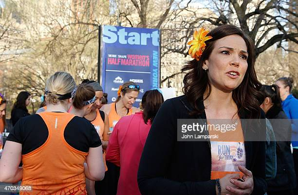 Today Show co-host Erica Hill attends 12th Annual MORE/FITNESS/SHAPE Women's Half-Marathon at Central Park on April 19, 2015 in New York City.