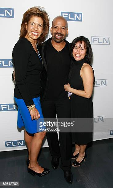 Today Show Fourth Hour Anchor Hoda Koty Lloyd Boston and NBC Today Show Producer Alicia Ybarbo attend Closet Cases premiere party at The London Hotel...