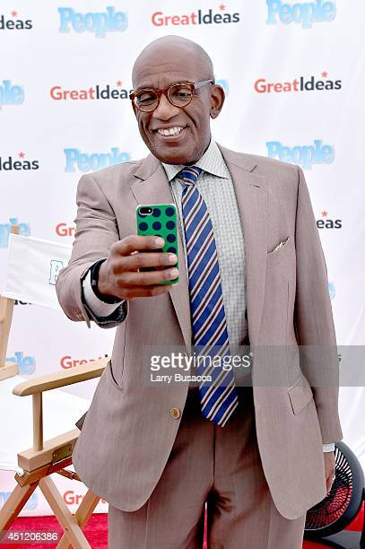 Today Show host Al Roker attends the cookoff hosted by People's 'Great Ideas' food truck on NBC's Today Show on June 25 2014 in New York City