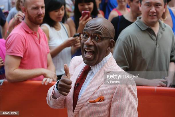 Today Show host Al Roker enjoys himself when Counting Crows perform on NBC's 'Today' at Rockefeller Plaza on September 2 2014 in New York City