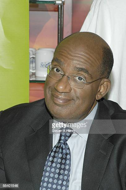 Today Show host Al Roker signs copies of 'Today's Kitchen Cookbook' at the NBC store on September 14 2005 in New York City 'Today's Kitchen Cookbook'...