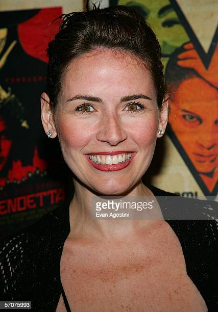 Today show host Alexis Glick arrives at the Warner Bros premiere of V for Vendetta at the Rose Theater on March 13 2006 in New York City