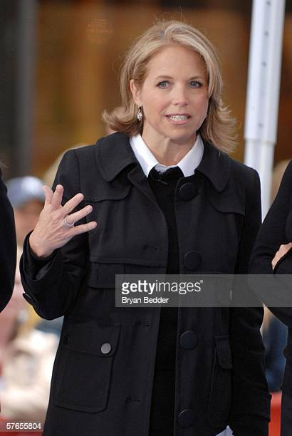 """Today Show host Katie Couric appears on the NBC """"Today"""" show Toyota Concert Series in Rockefeller Plaza May 19, 2006 in New York City."""