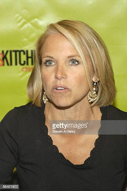 Today Show host Katie Couric signs copies of 'Today's Kitchen Cookbook' at the NBC store on September 14 2005 in New York City 'Today's Kitchen...