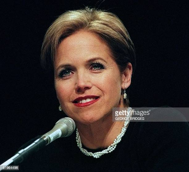 NBC Today Show host Katie Couric testifies on colon cancer screening during hearings conducted by a US Senate Special Commitee on Aging 06 March 2000...