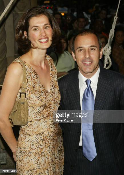 Today Show Host Matt Lauer and wife Annette Lauer attend the Sesame Workshop's Second Annual Benefit Gala June 2 2004 in New York City