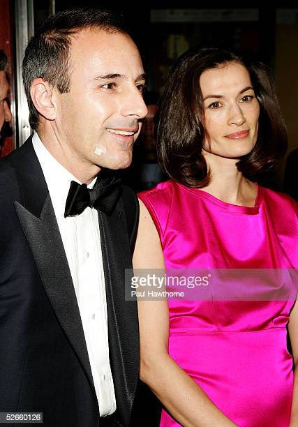 NBC Today show host Matt Lauer and wife Annette Roque arrive for Time Magazine Celebrates New Time 100 list of Most Influential People In The World...