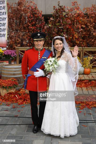 Today show hosts Matt Lauer and Ann Curry attend NBC's Today 2011 Halloween Celebration at Rockefeller Plaza on October 31 2011 in New York City