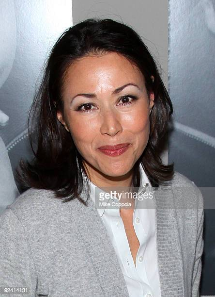 Today Show news anchor Ann Curry attends 'The Power Of The Invisible Sun' book launch party at Donna Karan's Urban Zen Center at the Stephen Weiss...