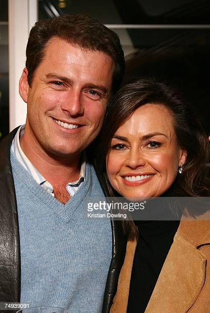 Today show personalities Karl Stefanovic and Lisa Wilkinson attend the Today Show 25th Party at Upper House Federation Square on June 28 2007 in...