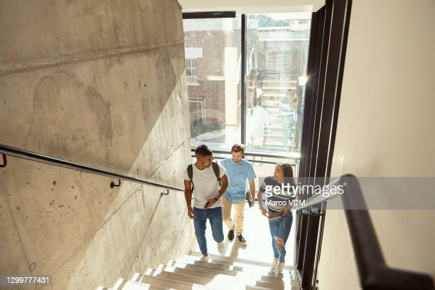 today the first step, tomorrow the whole staircase - campus stock pictures, royalty-free photos & images