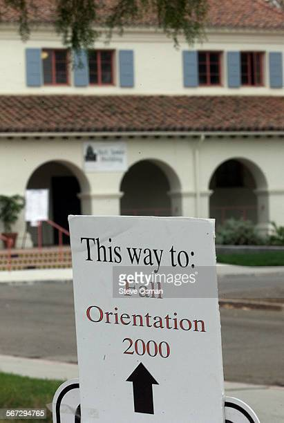 Today was the first day of instruction at California State University Northridge's Camarillo campus A sign points the way to orientation. DIGITAL...