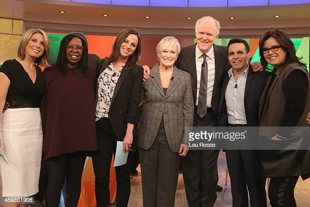 THE VIEW Today's guest cohosts are Mario Cantone and Alicia Menendez Guests are Glenn Close and John Lithgow and via satellite singer Jennifer Hudson...