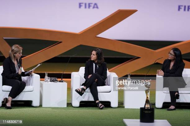 Today's moderator Fabimar Franchi Head of Sustainability and of Women's Football Development of CONMEBOL speaks to Verónica Boquete Giadáns...