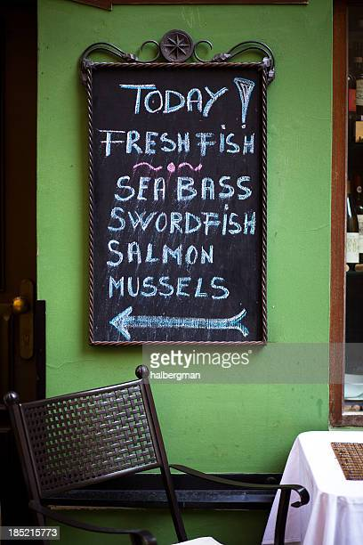 Today's Specials at Seafood Restaurant, Prague