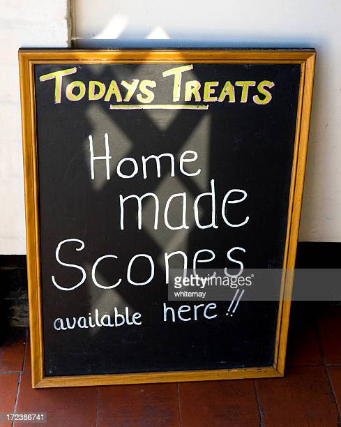 today's treats - home made scones available here - today single word stock pictures, royalty-free photos & images