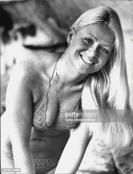 Today's weather girl is Kathy Troutt of Gymea Kathy is a Model and was pictured at Mrs MacQuarie's Chair January 24 1974