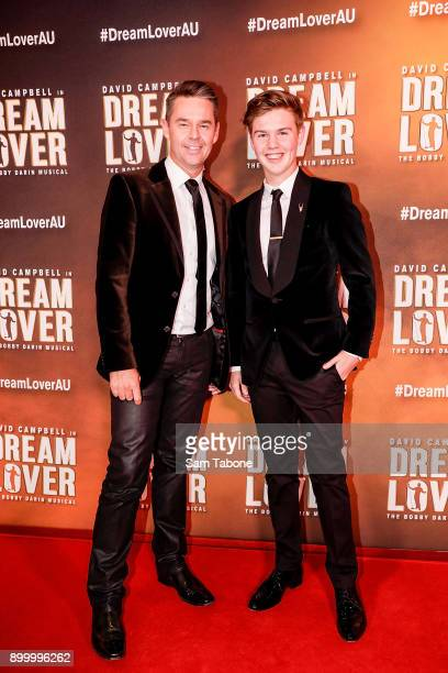 Todd and Beau Woodbridge attends opening night of Dream Lover The Bobby Darin Musical at Melbourne Arts Centre on December 31 2017 in Melbourne...