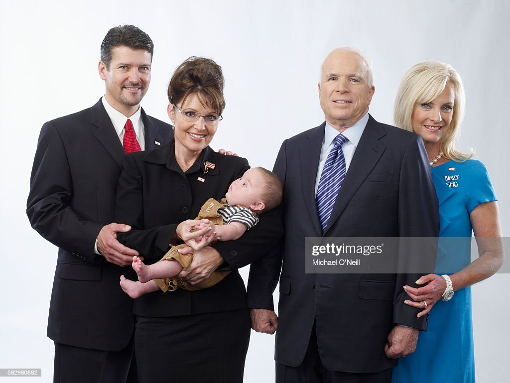 Todd and Sarah Palin and son Trig with John and Cindy McCain