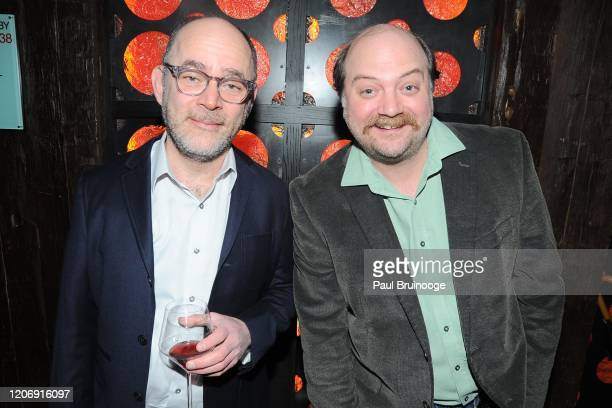 Todd Barry and David Neal Levin attend Sony Pictures Classics And The Cinema Society Host A Special Screening Of The Climb at iPic Theater on March...