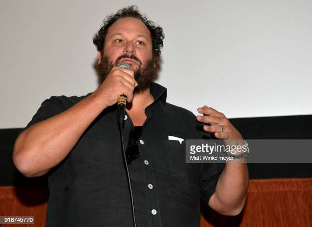 Todd Berardi speaks at a screening of 'The Push' during The 33rd Santa Barbara International Film Festival at the Metro Theatre on February 10 2018...