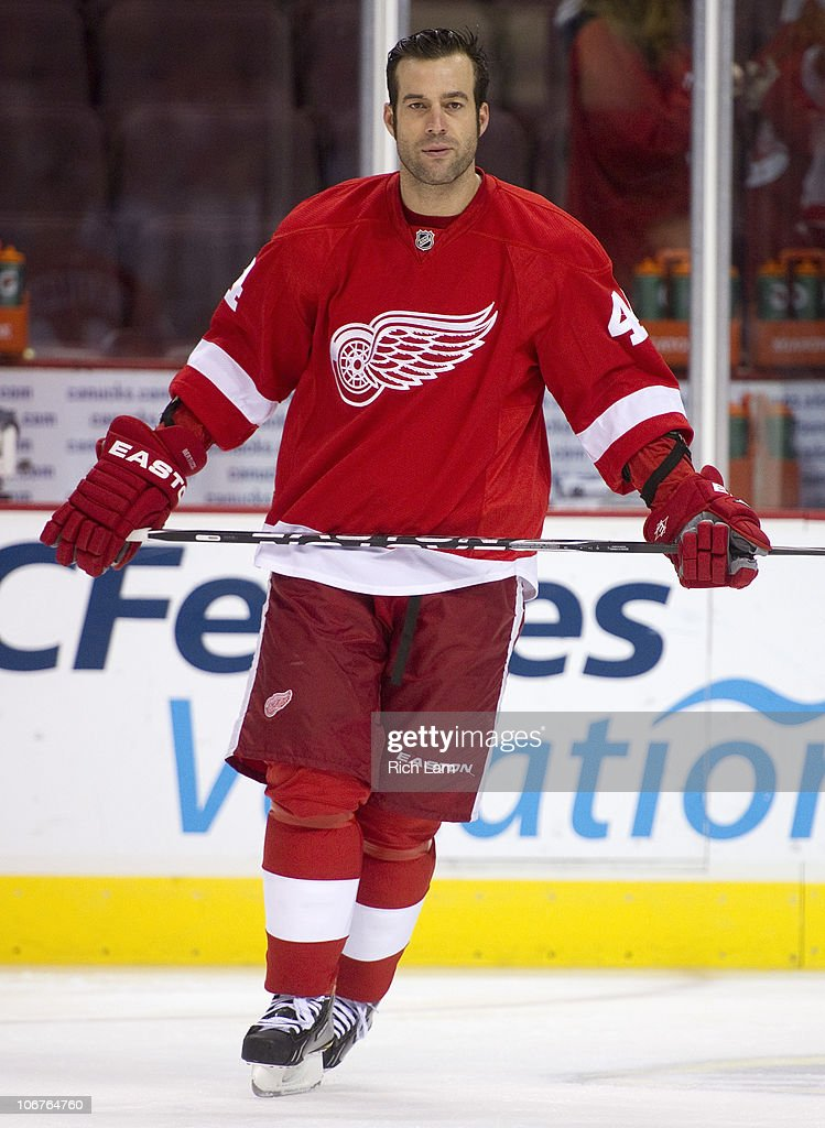 Todd Bertuzzi of the Detroit Red Wings takes part in the pre