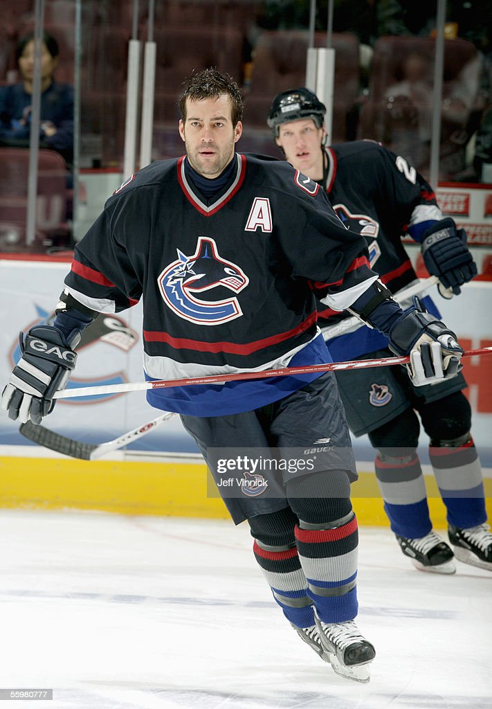 Todd Bertuzzi of the Vancouver Canucks skates before the NHL game ...