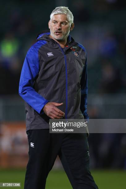 Todd Blackadder Director of Rugby of Bath during the AngloWelsh Cup Round 2 match between Bath Rugby and Leicester Tigers at the Recreation Ground on...