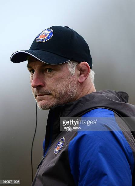 Todd Blackadder Director of Rugby of Bath during the AngloWelsh Cup match between Bath and Newcastle Falcons at the Recreation Ground on January 27...
