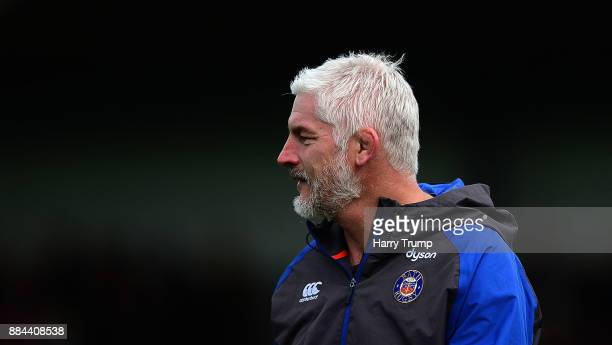 Todd Blackadder Head Coach of Bath Rugby during the Aviva Premiership match between Exeter Chiefs and Bath Rugby at Sandy Park on December 2 2017 in...