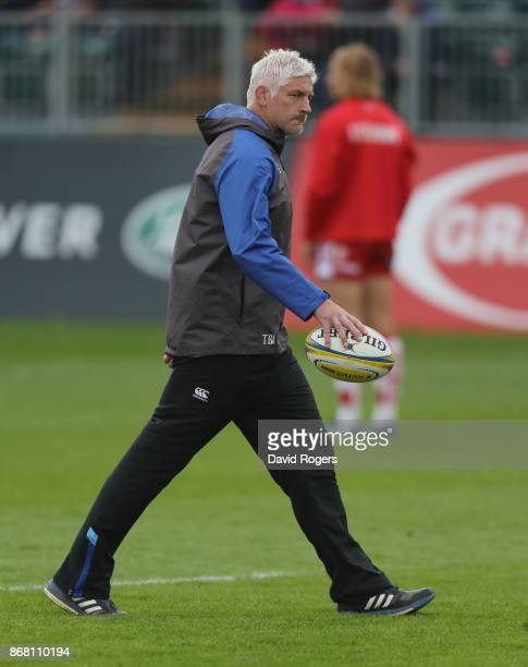 Todd Blackadder the Bath director of rugby looks on during the Aviva Premiership match between Bath Rugby and Gloucester Rugby at the Recreation...