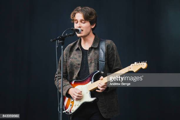 Todd Blackmore of Judas perform on the main stage during day 2 at Leeds Festival at Bramhall Park on August 26, 2017 in Leeds, England.