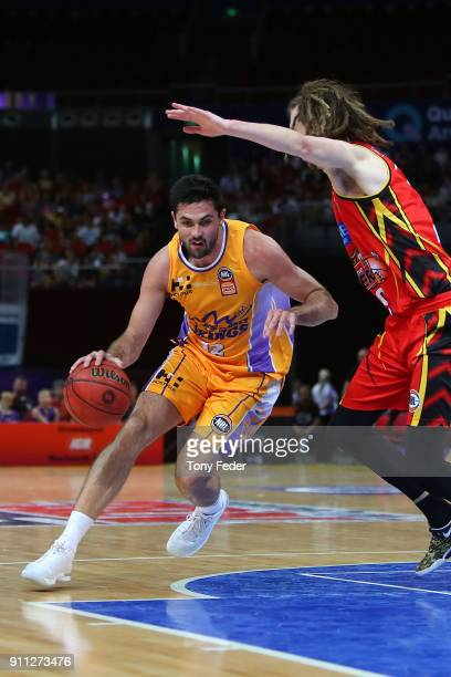 Todd Blanchfield of the Kings in action during the round 16 NBL match between the Sydney Kings and Melbourne United at Qudos Bank Arena on January 28...