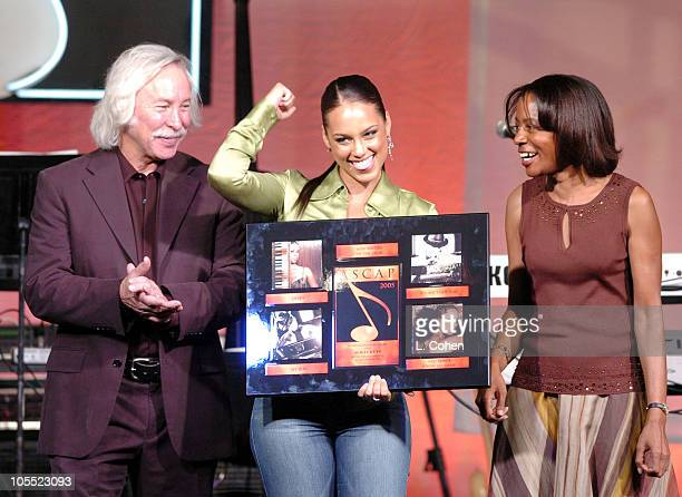 Todd Brabec Alicia Keys and Jeanie Weems during ASCAP 18th Annual Rhythm Soul Music Awards Show at Beverly Hilton Hotel in Beverly Hills California...
