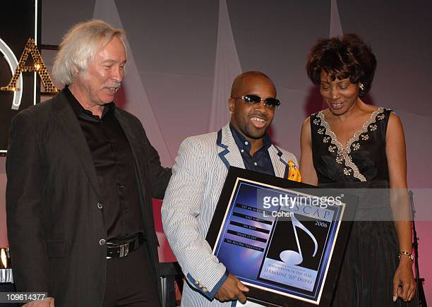 Todd Brabec Jermaine Dupri and Jeanie Weems during 19th Annual ASCAP Rhythm Soul Awards Award Show at Beverly Hilton Hotel in Beverly Hills...