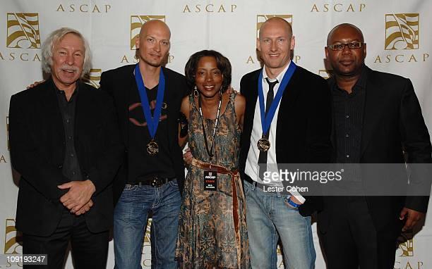 Todd Brabec of ASCAP Mikkel Eriksen Jeanie Weems of ASCAP Tor Hermansen and Timothy Blacksmith