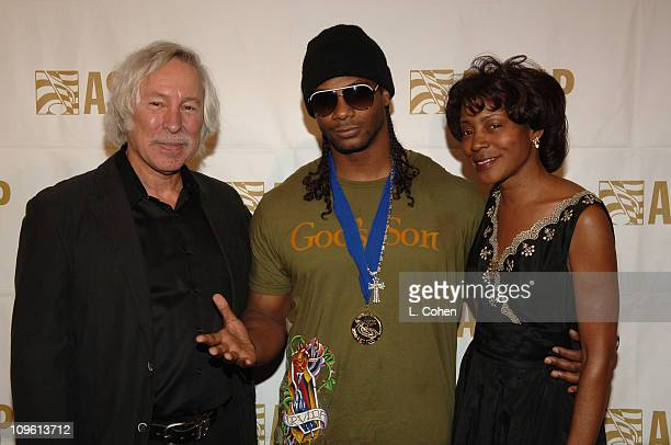 Todd Brabec Polow and Jeanie Weems during 19th Annual ASCAP Rhythm Soul Awards Press Room at Beverly Hilton Hotel in Beverly Hills California United...