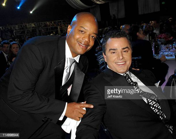 Todd Bridges and Christopher Knight during 5th Annual TV Land Awards Backstage at Barker Hangar in Santa Monica California United States