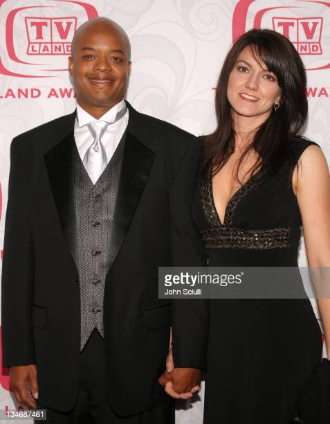 Todd Bridges and Dori Smith during 5th Annual TV Land Awards Arrivals at Barker Hanger in Santa Monica CA United States