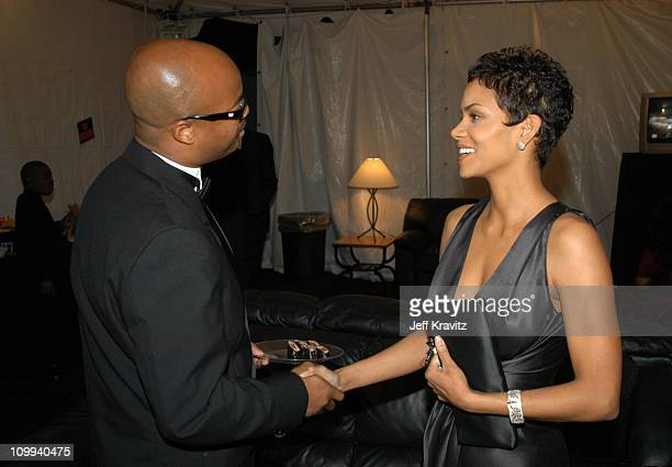 Todd Bridges and Halle Berry during The TV Land Awards Backstage at Hollywood Palladium in Hollywood CA United States