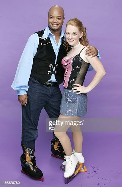 Todd Bridges and Jenni Meno during Skating With Celebrities Portrait Gallery in Hollywood California United States