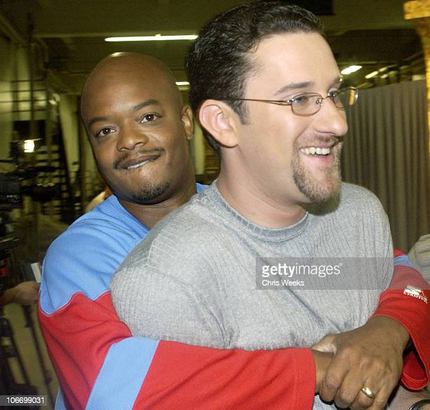 Todd Bridges Dustin Diamond during David Spade and CoStars from Paramount Pictures' 'Dickie Roberts Former Child Star' Tape Hollywood Squares at CBS...