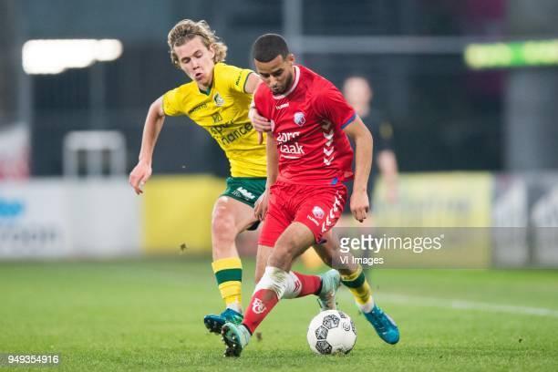 Todd Cantwell of Fortuna Sittard Redouan El Kaakoubi of Jong FC Utrecht during the Jupiler League match between Jong FC Utrecht and Fortuna Sittard...