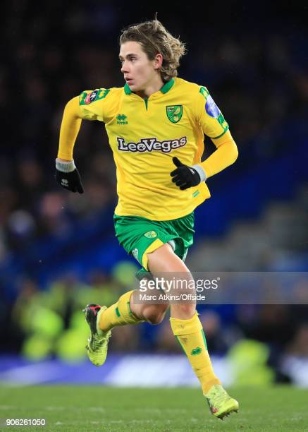 Todd Cantwell of Norwich City during the Emirates FA Cup Third Round Replay match between Chelsea and Norwich City at Stamford Bridge on January 17...
