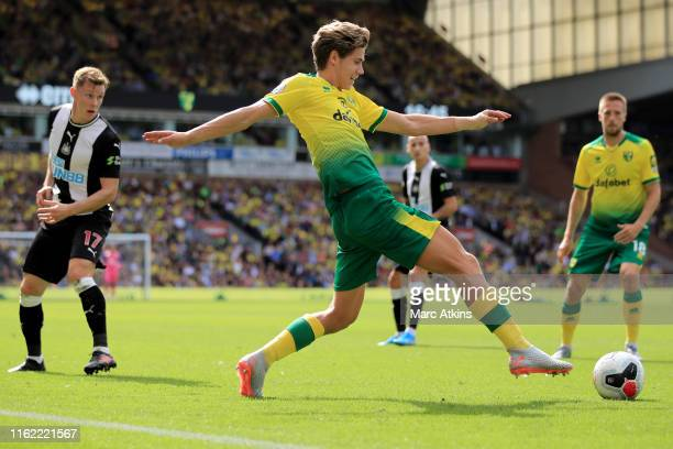 Todd Cantwell of Norwich City during the Premier League match between Norwich City and Newcastle United at Carrow Road on August 17 2019 in Norwich...