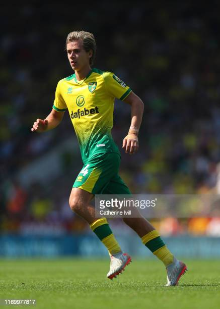 Todd Cantwell of Norwich City during the Premier League match between Norwich City and Chelsea FC at Carrow Road on August 24 2019 in Norwich United...