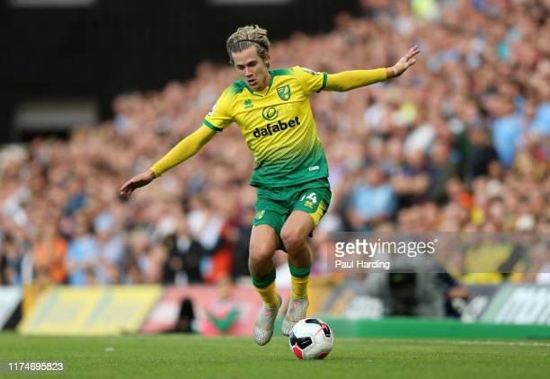 Todd Cantwell of Norwich City during the Premier League match between Norwich City and Manchester City at Carrow Road on September 14 2019 in Norwich...